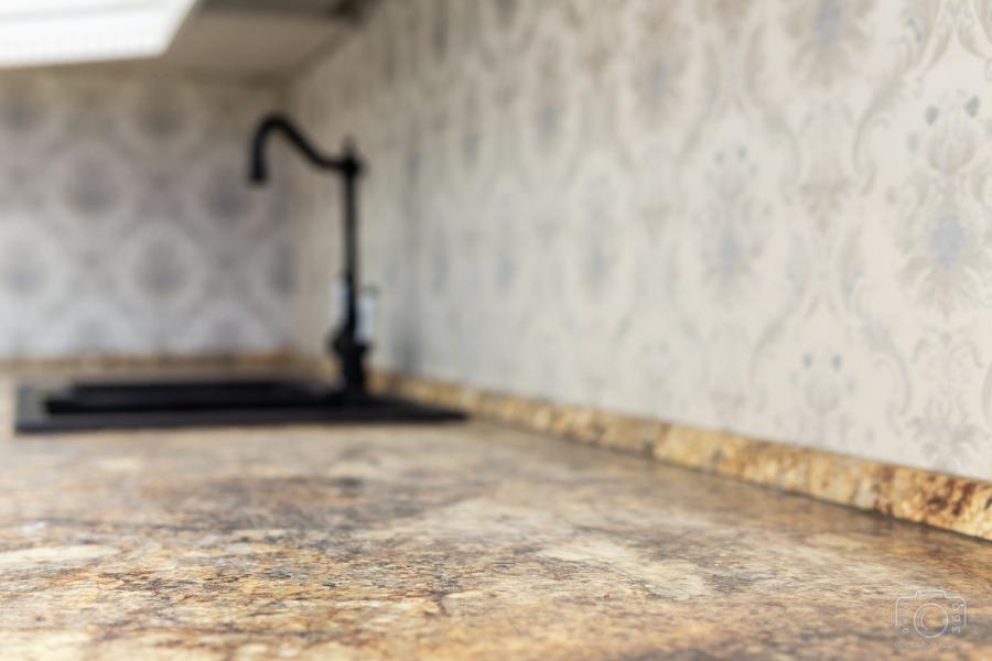 Бежевые кухни-Кухня из шпона «Модель 8»-фото10