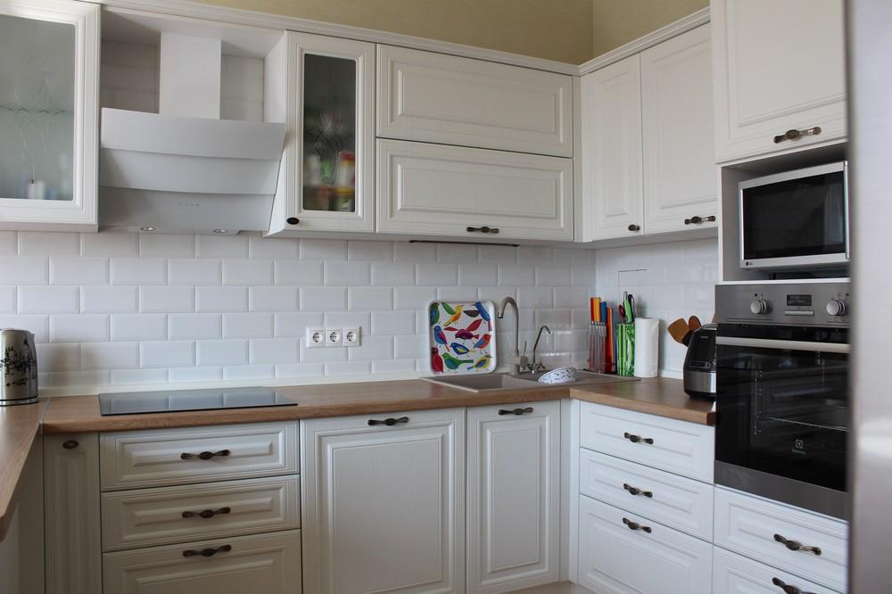 Белый кухонный гарнитур-Кухня МДФ в ПВХ «Модель 102»-фото5