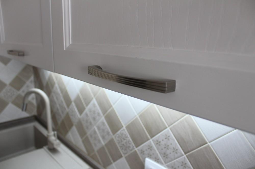 Белый кухонный гарнитур-Кухня МДФ в ПВХ «Модель 294»-фото6
