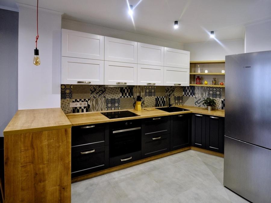 Белый кухонный гарнитур-Кухня МДФ в пленке ПВХ «Модель 112»-фото2