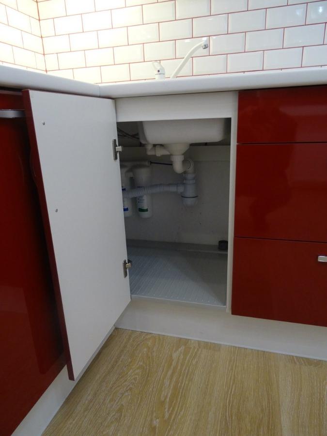 Белый кухонный гарнитур-Кухня из пластика «Модель 365»-фото5