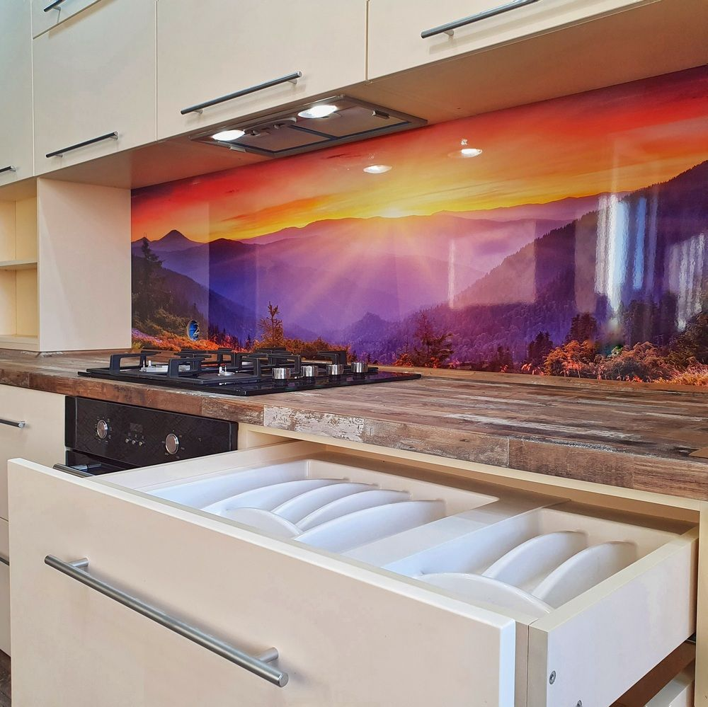 Белый кухонный гарнитур-Кухня МДФ в эмали «Модель 542»-фото8