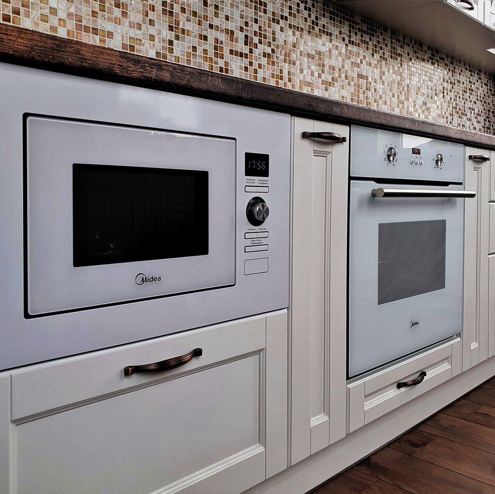 Белый кухонный гарнитур-Кухня МДФ в эмали «Модель 525»-фото6