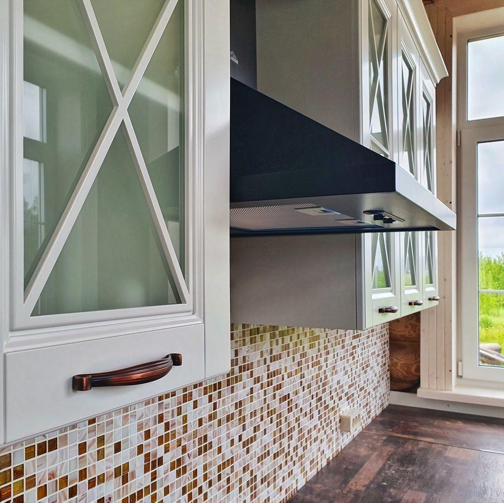 Белый кухонный гарнитур-Кухня МДФ в эмали «Модель 525»-фото5