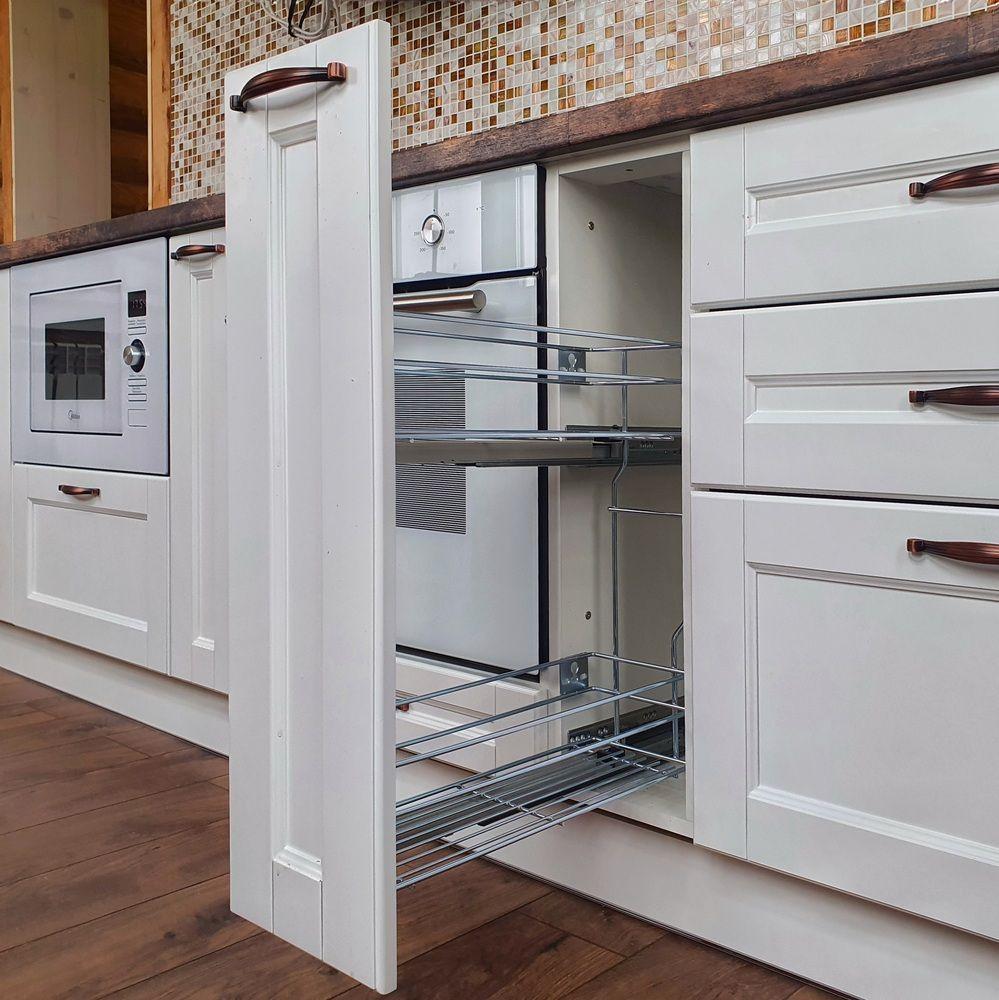 Белый кухонный гарнитур-Кухня МДФ в эмали «Модель 525»-фото8