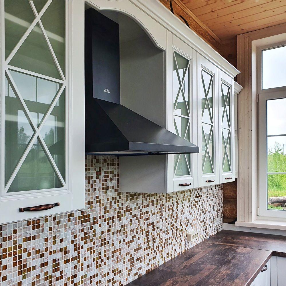 Белый кухонный гарнитур-Кухня МДФ в эмали «Модель 525»-фото4