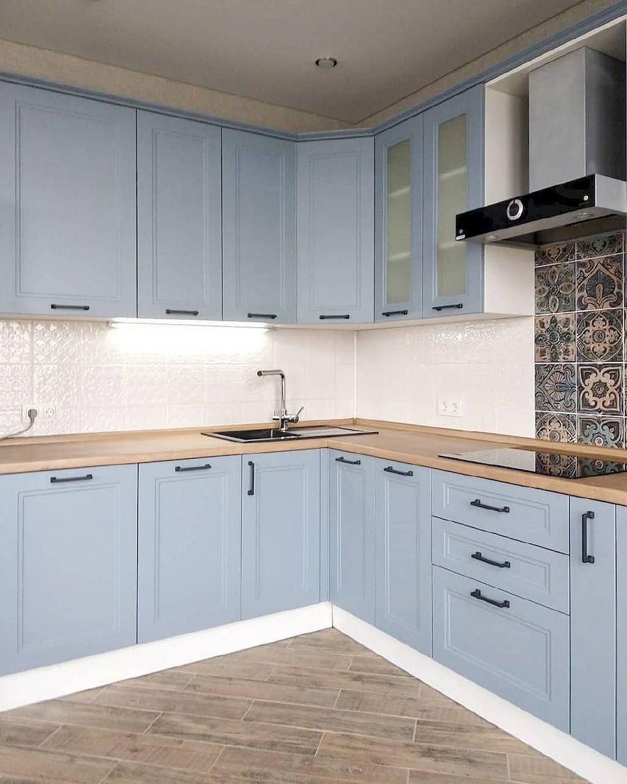 Высокие кухни под потолок-Кухня МДФ в эмали «Модель 640»-фото1