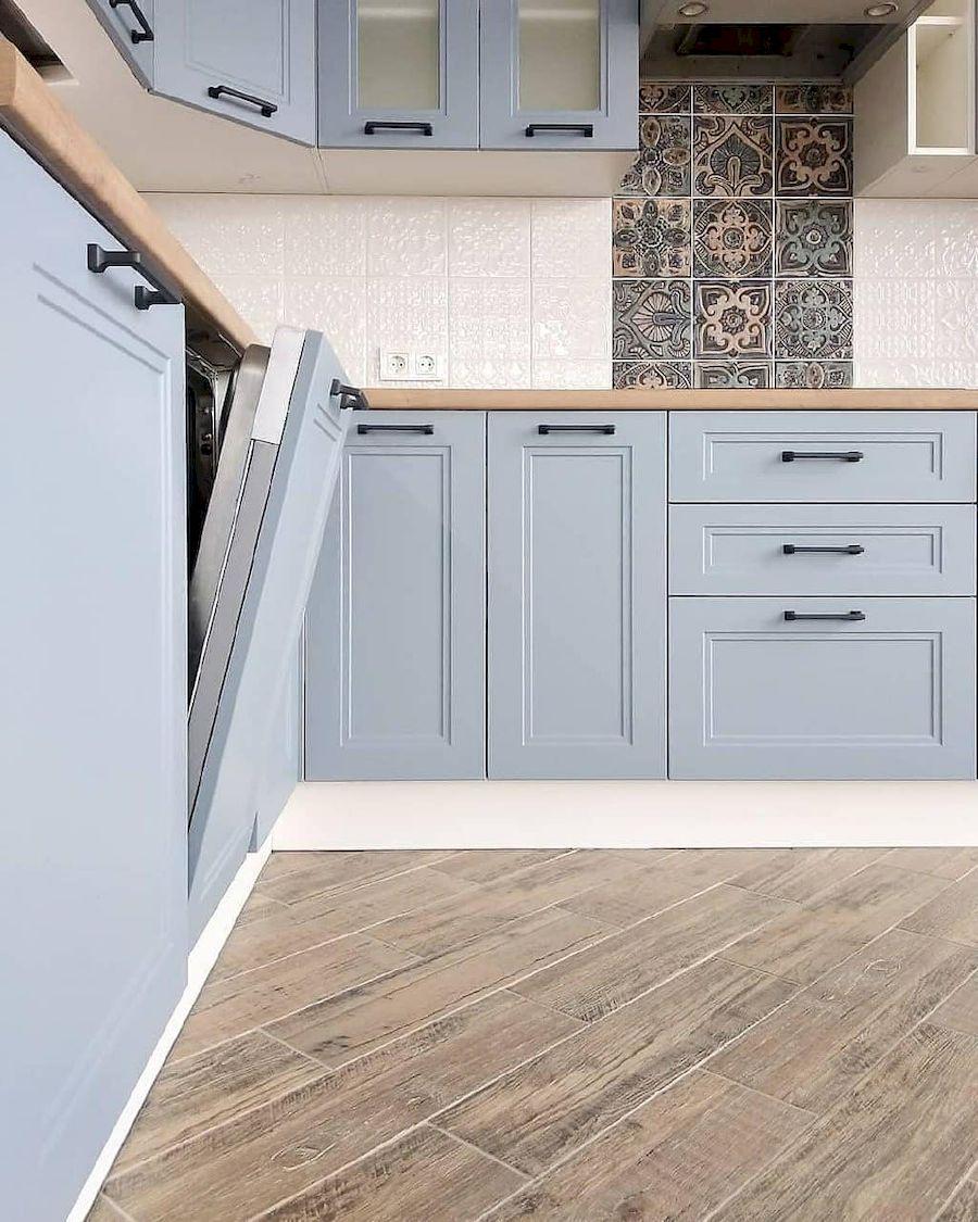 Высокие кухни под потолок-Кухня МДФ в эмали «Модель 640»-фото4