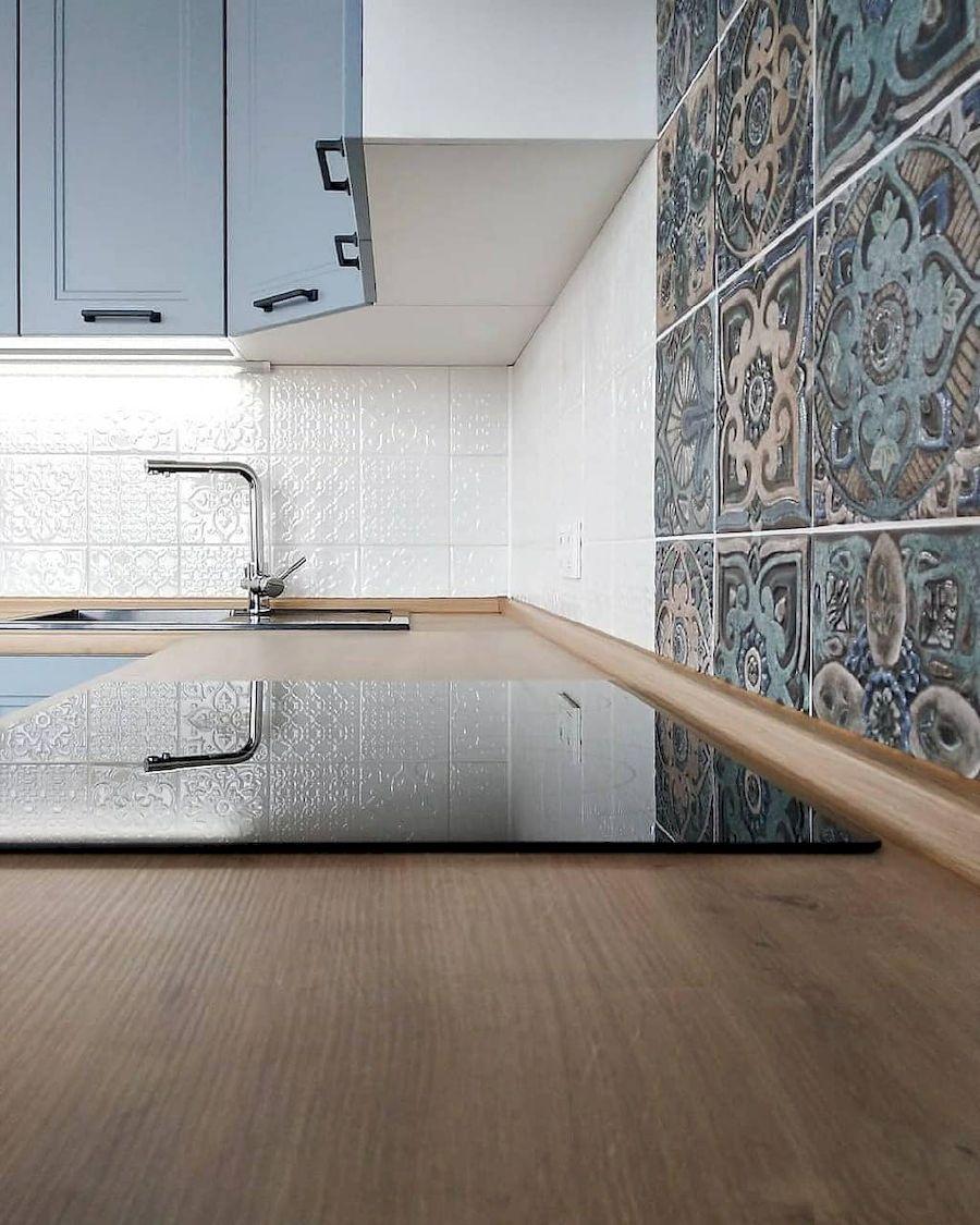 Высокие кухни под потолок-Кухня МДФ в эмали «Модель 640»-фото8