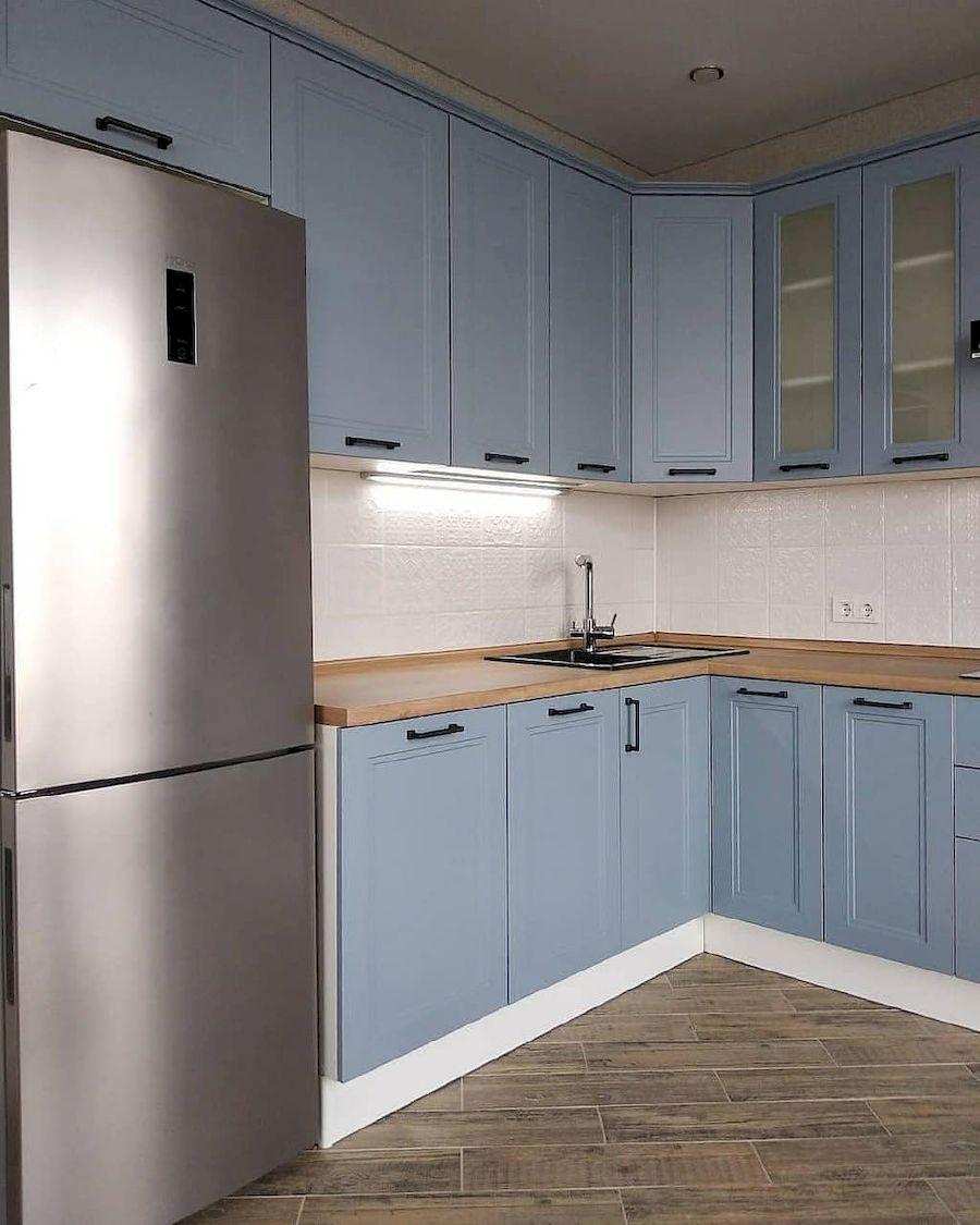Высокие кухни под потолок-Кухня МДФ в эмали «Модель 640»-фото2