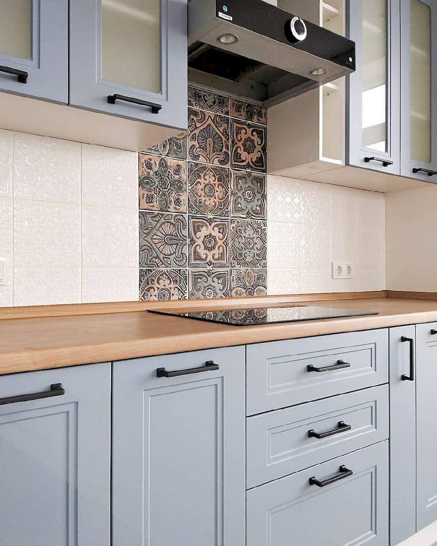 Высокие кухни под потолок-Кухня МДФ в эмали «Модель 640»-фото3
