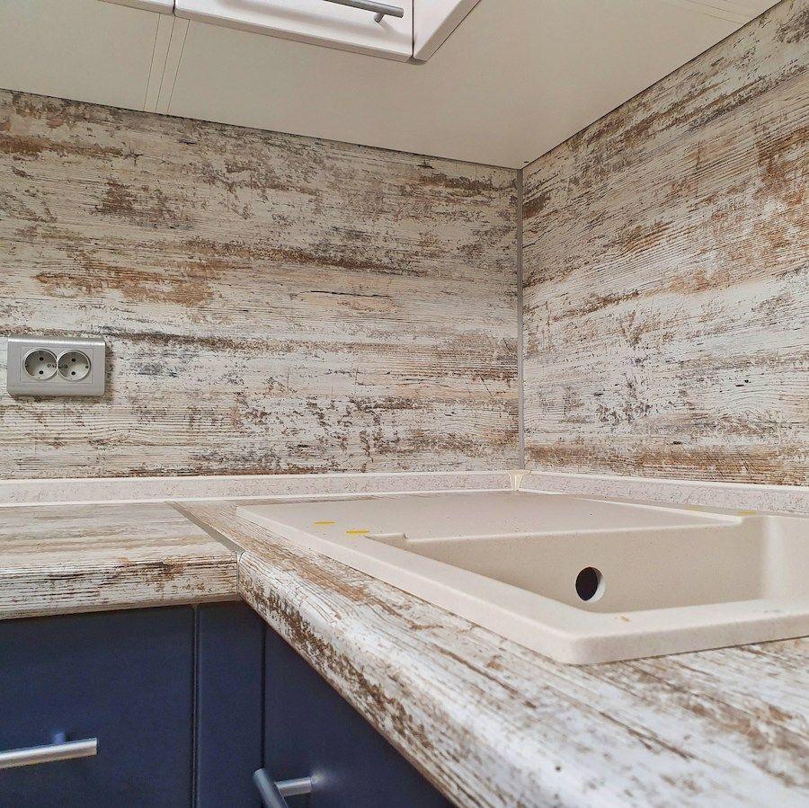 Белый кухонный гарнитур-Кухня МДФ в ПВХ «Модель 555»-фото4