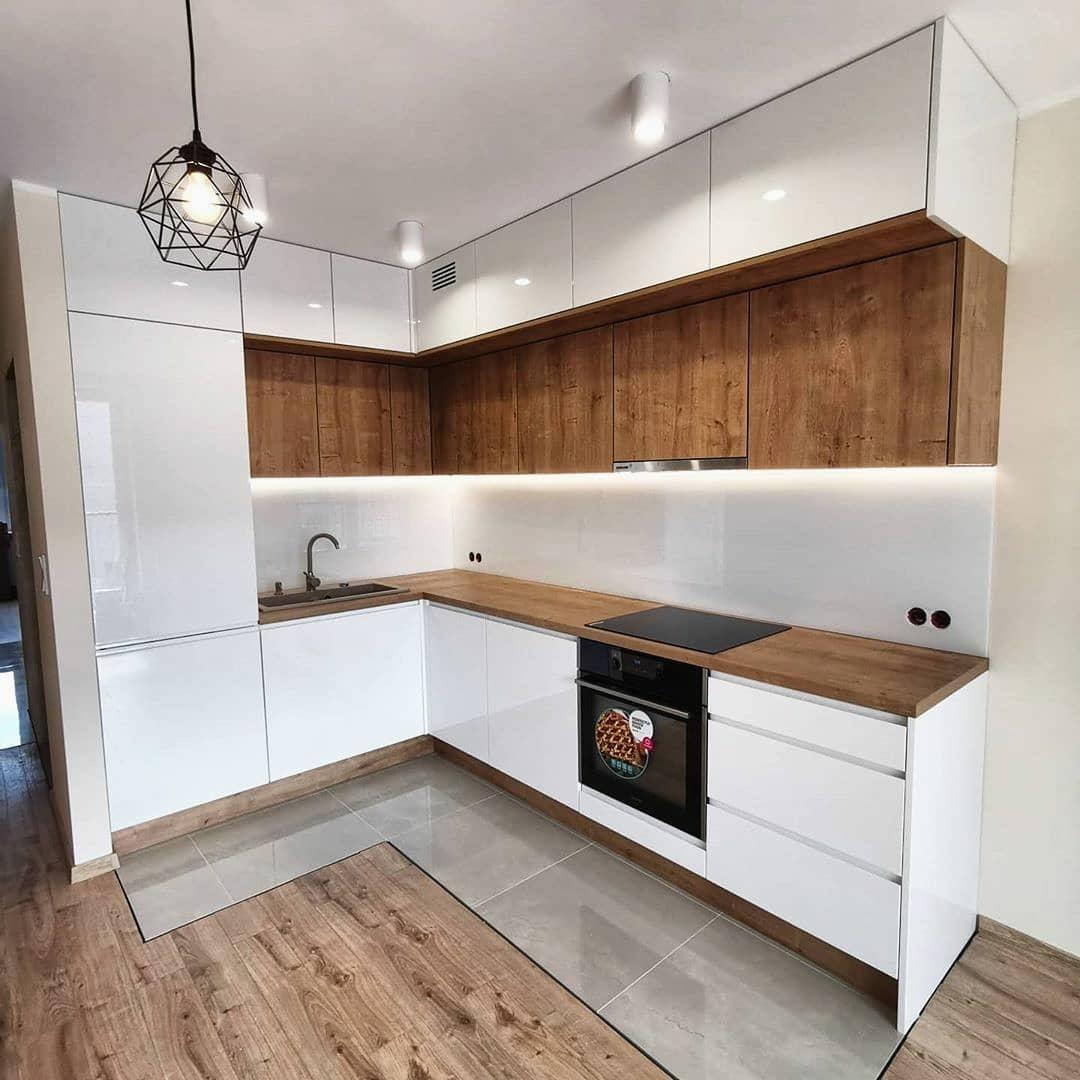 Белый кухонный гарнитур-Кухня МДФ в эмали «Модель 631»-фото1