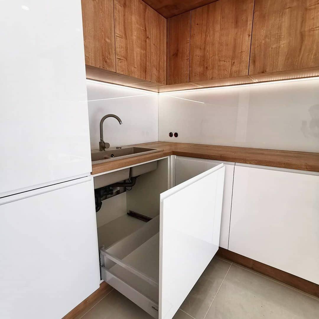 Белый кухонный гарнитур-Кухня МДФ в эмали «Модель 631»-фото5